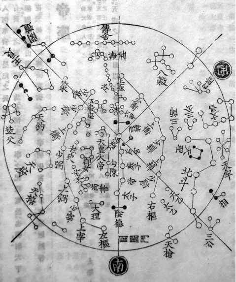 Tang Chinese Constellation Map