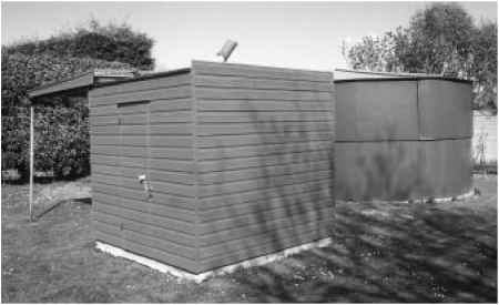 Green Fibre Glass Shed