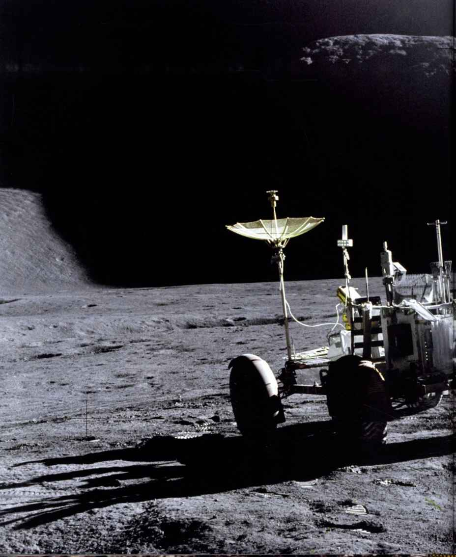 Lunar Roving Vehicle Stowed Position